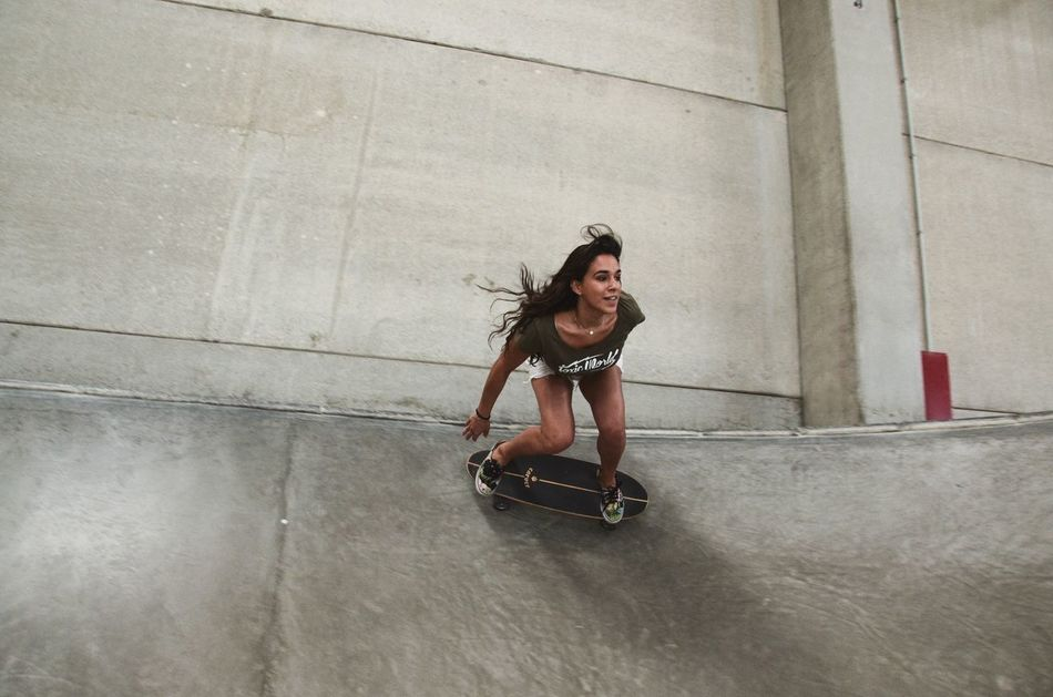 Nutis ⚡️⚡️ Woman Women Power Women Portraits Girl Power Girl Skateboarding Portrait Young Women Long Hair People And Places Low Angle View