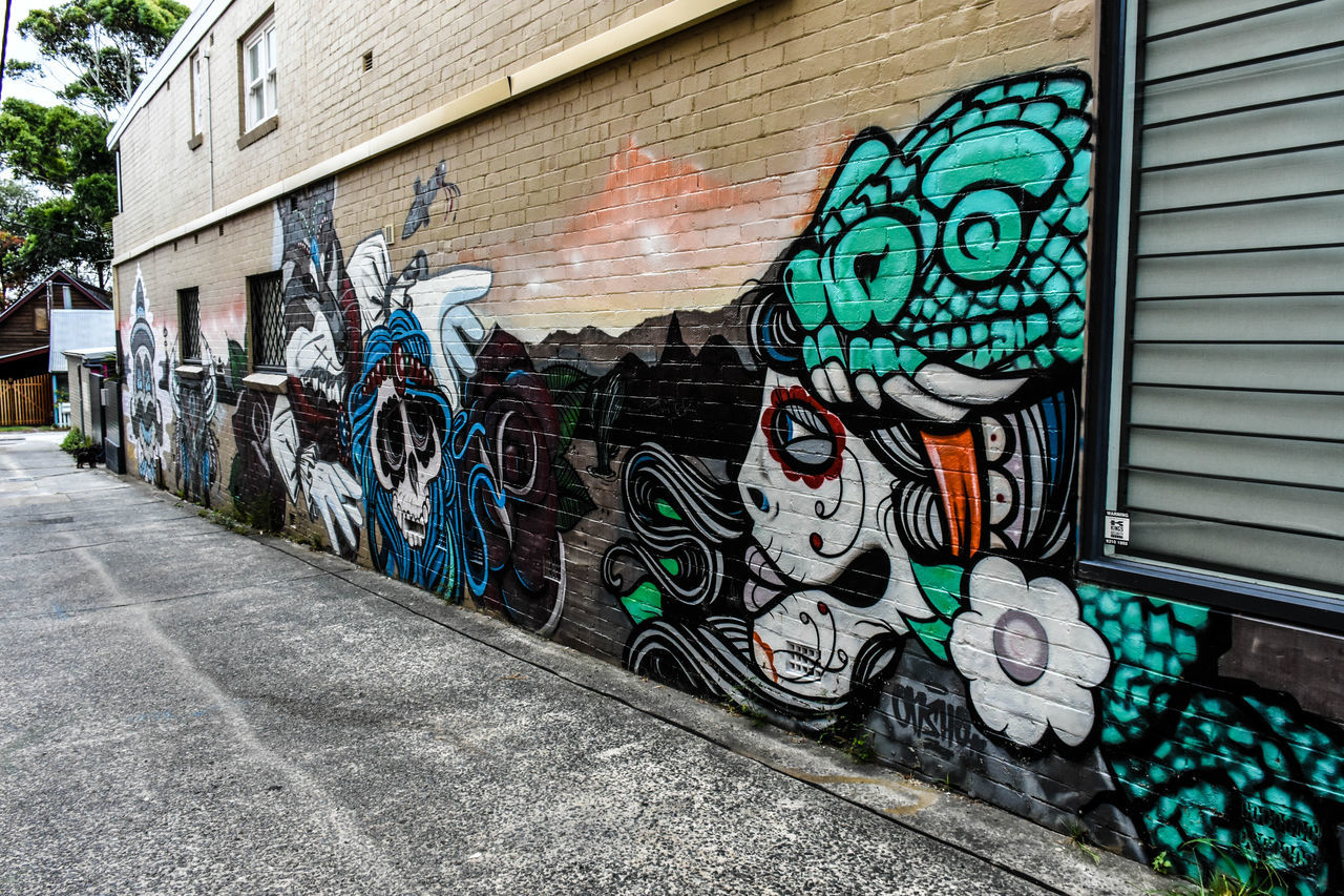 Architecture Art And Craft Building Exterior Built Structure Creativity Day Graffiti Multi Colored Nikon Nikon 18-140 Nikon D7200 No People Outdoors Spray Paint Street Art Wall - Building Feature