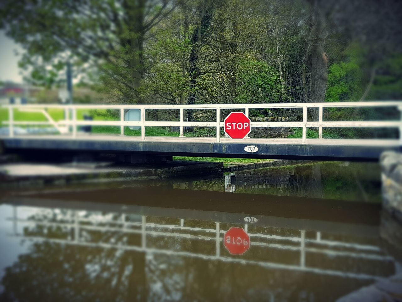 transportation, red, no people, land vehicle, road, day, mode of transport, tree, road sign, outdoors, nature, close-up