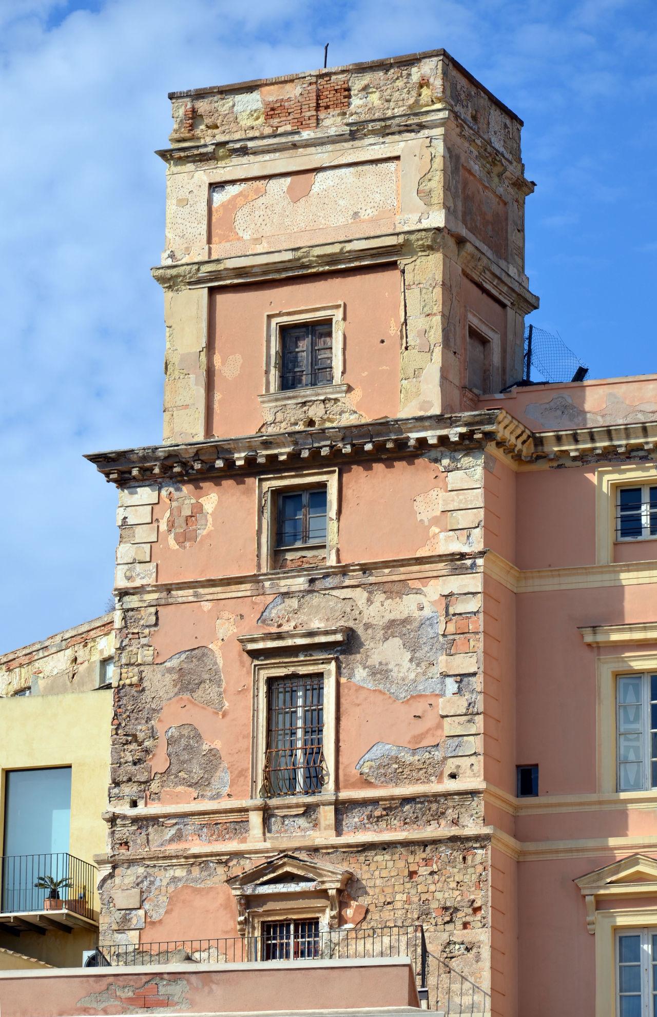 Old facade Architecture Building Exterior Cagliari Cagliari Urban City Cagliari, Sardinia Cagliary Façade Historic Italy Ruined