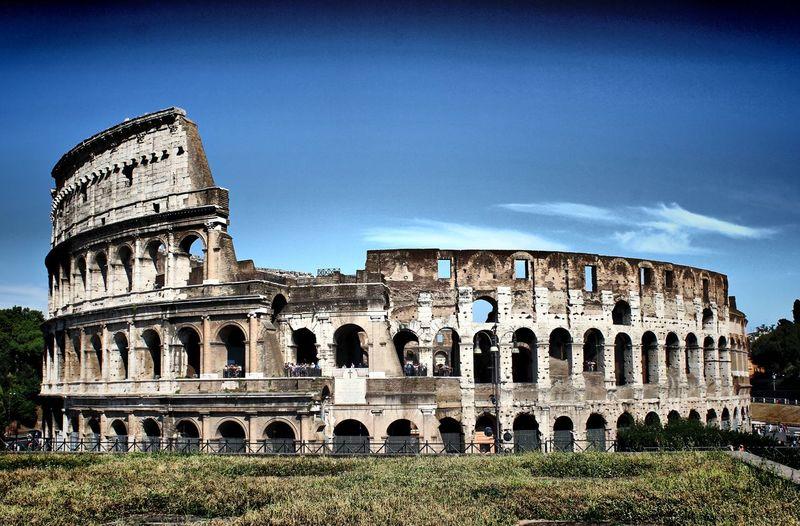 Amphitheater Colosseum Forum Romanum Italien Kolosseum Rom Roma Ruine Sehenswürdigkeit