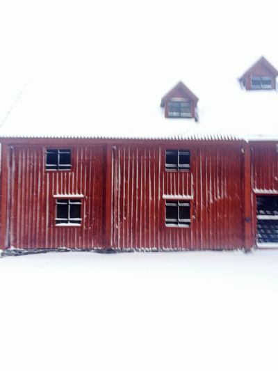 Building Exterior Built Structure Architecture House Outdoors No People Red Winter Snow Wintertime Building Barn Urban Park Old Buildings Brynäs Beauty In Nature Park Stenebergsparken Residential District The City Light
