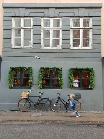 EyeEmNewHere Building Exterior Child Running Boy Running Windows Doors Childhood Running Speed Blurred Copenhagen, Denmark Blonde Boy Parked Bike Bicycle EyeEmNewHere The Street Photographer - 2017 EyeEm Awards