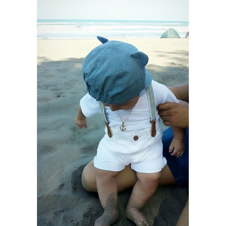 Mi hermoso sobrino !! Playa Veracruz Editada con Camly a través de @CamlyApp