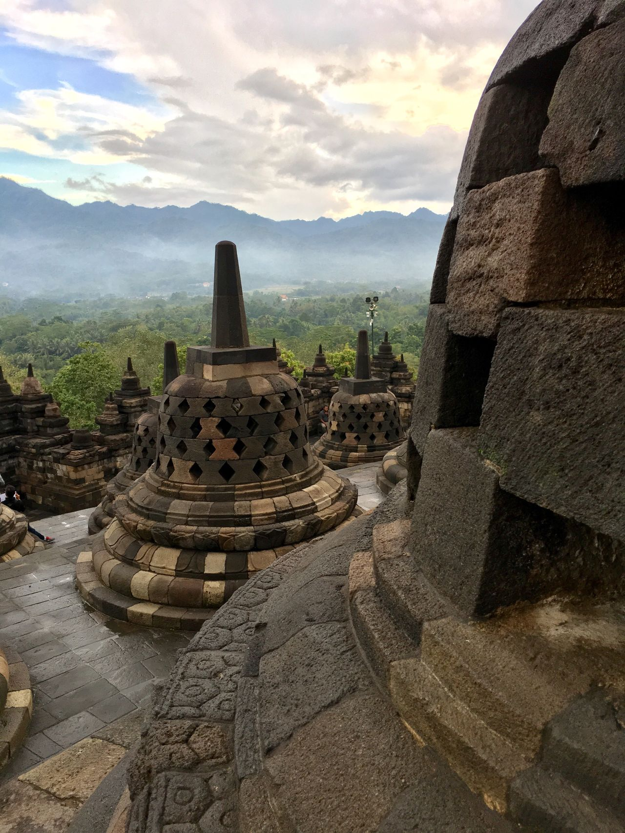 Borobudur temple Architecture Travel Destinations Sky Place Of Worship Built Structure Ancient Civilization Religion Ancient History Cloud - Sky Spirituality Old Ruin Archaeology Nature Mountain Travel Building Exterior Tourism Outdoors Day world heritage 7th Century