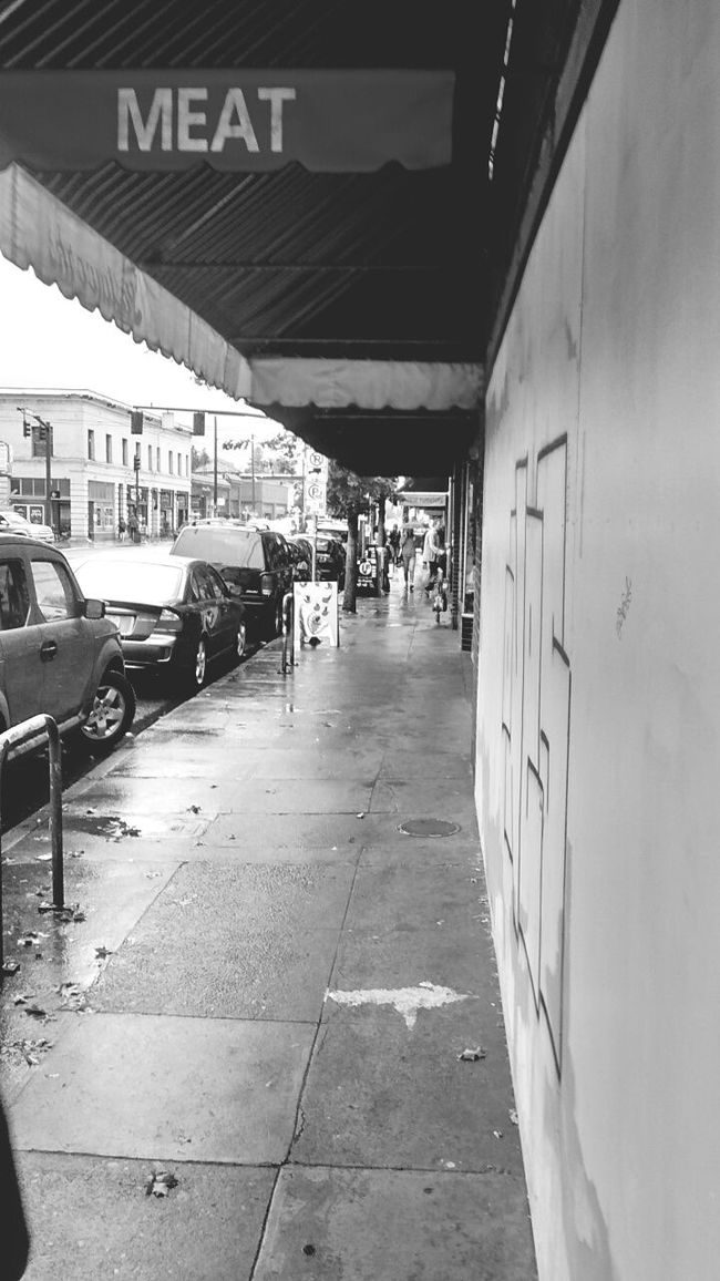 Black And White Collection  No People City Life Architecture Wet Streetside Composition Blackandwhite Photography