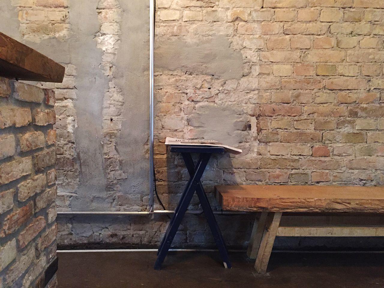 Beautiful stock photos of kaffee, Absence, Bench, Berlin, Brick Wall