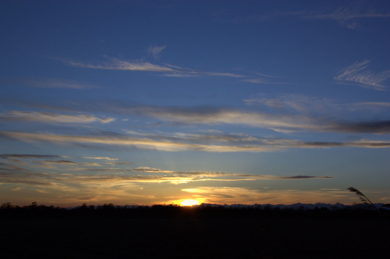 Beauty In Nature Blu Sky Clouds And Sky Day Field Landscape Nature No People Outdoors Scenics Silhouette Sky Sunset