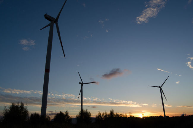 Alternative Energy Backgrounds Day Landscape Nature No People Outdoors Rural Scene Scenics Silhouette Sky Star - Space Sunset Technology Twilight