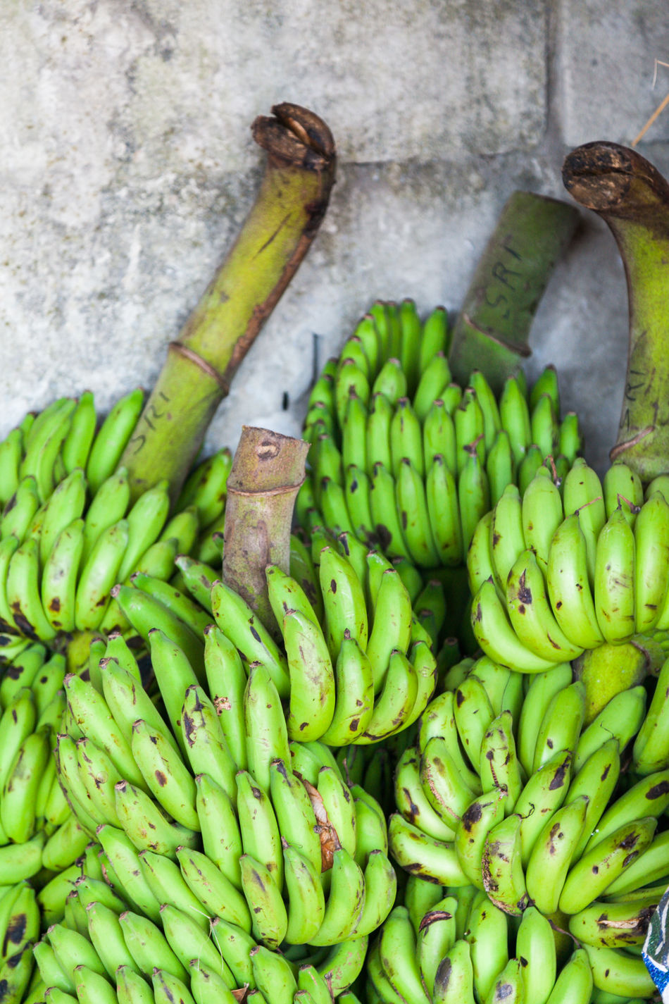 Banana Bunches Of Bananas Close-up Day Food Food And Drink Freshness Fruit Green Bananas Green Color Healthy Eating No People Outdoors