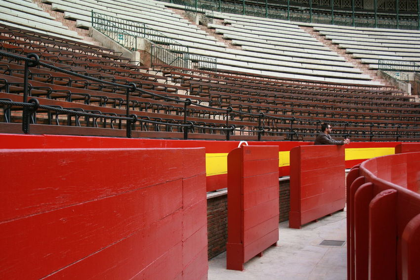 I am not fond of bull fighting that is why this is my first time inside the Valencian Bull Ring. Built Structure Bull Ring Bull Ring Spain Historical Building Plaza De Toros Plaza De Toros , Valencia Plaza De Toros, Valencia Red Color Red Wood Rostrum Travel Destinations Valencia, Spain Wood Material