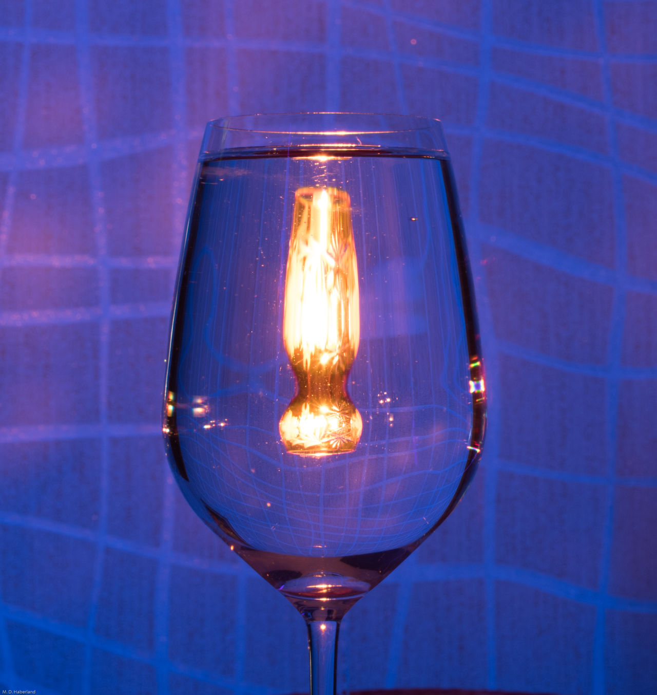 Magic Glass EyeEmNewHere Candle Light Blacklight Mirrored Waterglass Indoors  No People Illuminated