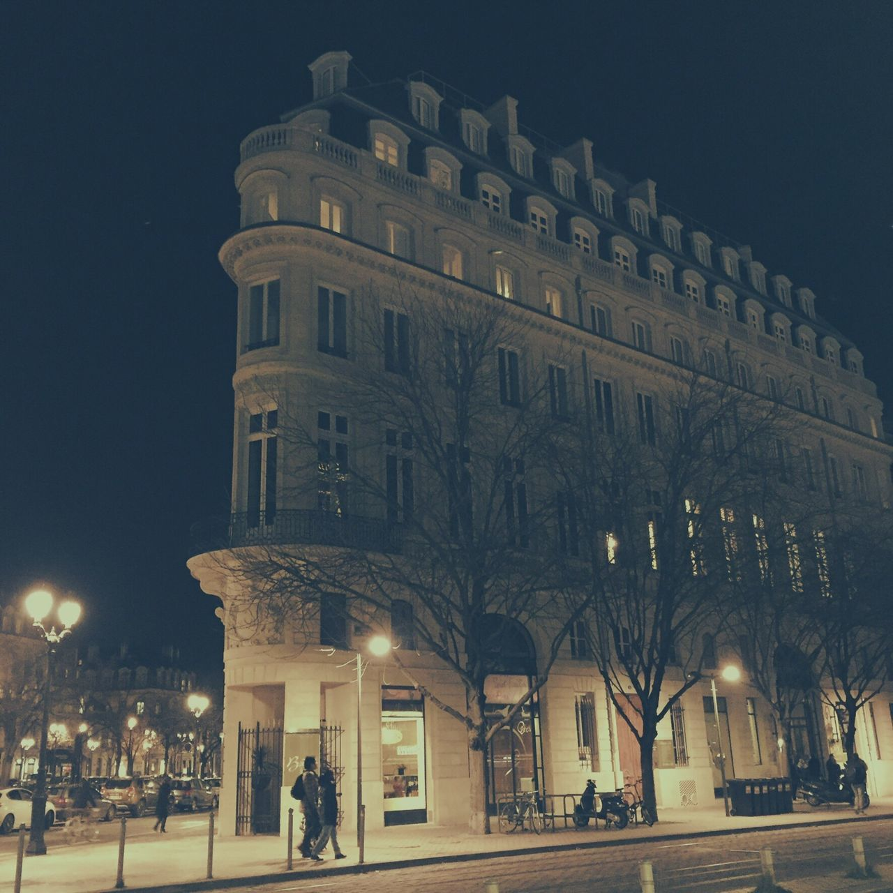 Architecture Building Exterior Built Structure Night Illuminated Tourism Travel Destinations City Outdoors Sky No People Street Photography Building Photography Bordeaux, France Old Buildings Buildingstyles