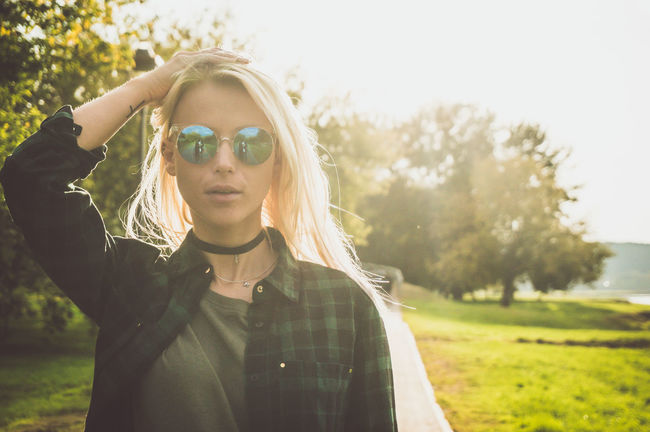 Adult Adults Only Day Eyeglasses  Grass Human Body Part Nature One Person One Woman Only Only Women Outdoors People Portrait Sky Sunlight Tree Women Young Adult