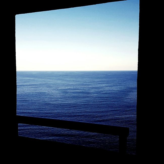Horizon Over Water Window Scenics Blue Sea Water Clear Sky Tranquility Seascape Horizon Over Water Sea Water Window Scenics Blue Indoors  Clear Sky Tranquility Tranquil Scene Sky Seascape Beauty In Nature Nature Day No People