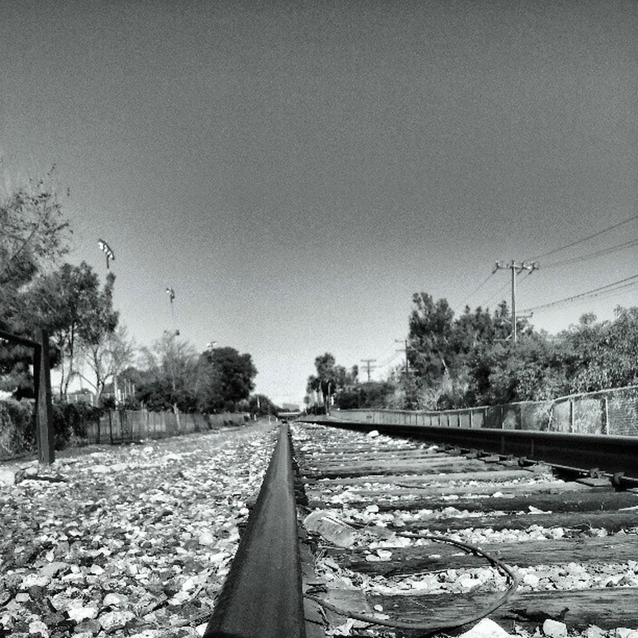Trainspotting Jj  Losangeles Blackandwhite Bnw Fortheloveofblackandwhite Monochrome Black&white LiveanddirectfromLosAngeles Railroad Railroad Track