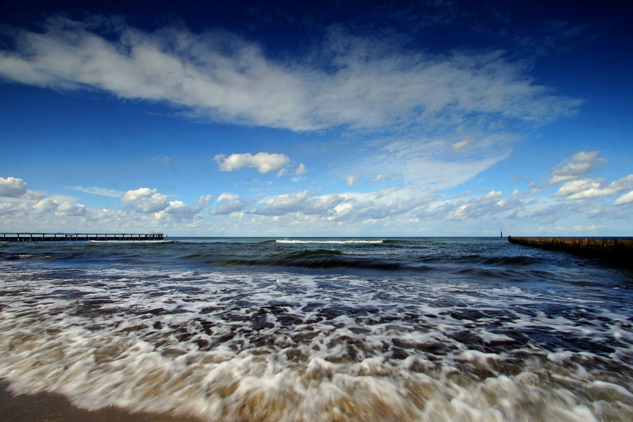 Baltic Sea Beach Beauty In Nature Cloud - Sky Day Horizon Over Water Nature No People Outdoors Scenics Sea Shoreline Sky Tranquil Scene Tranquility Travel Destinations Water Wave