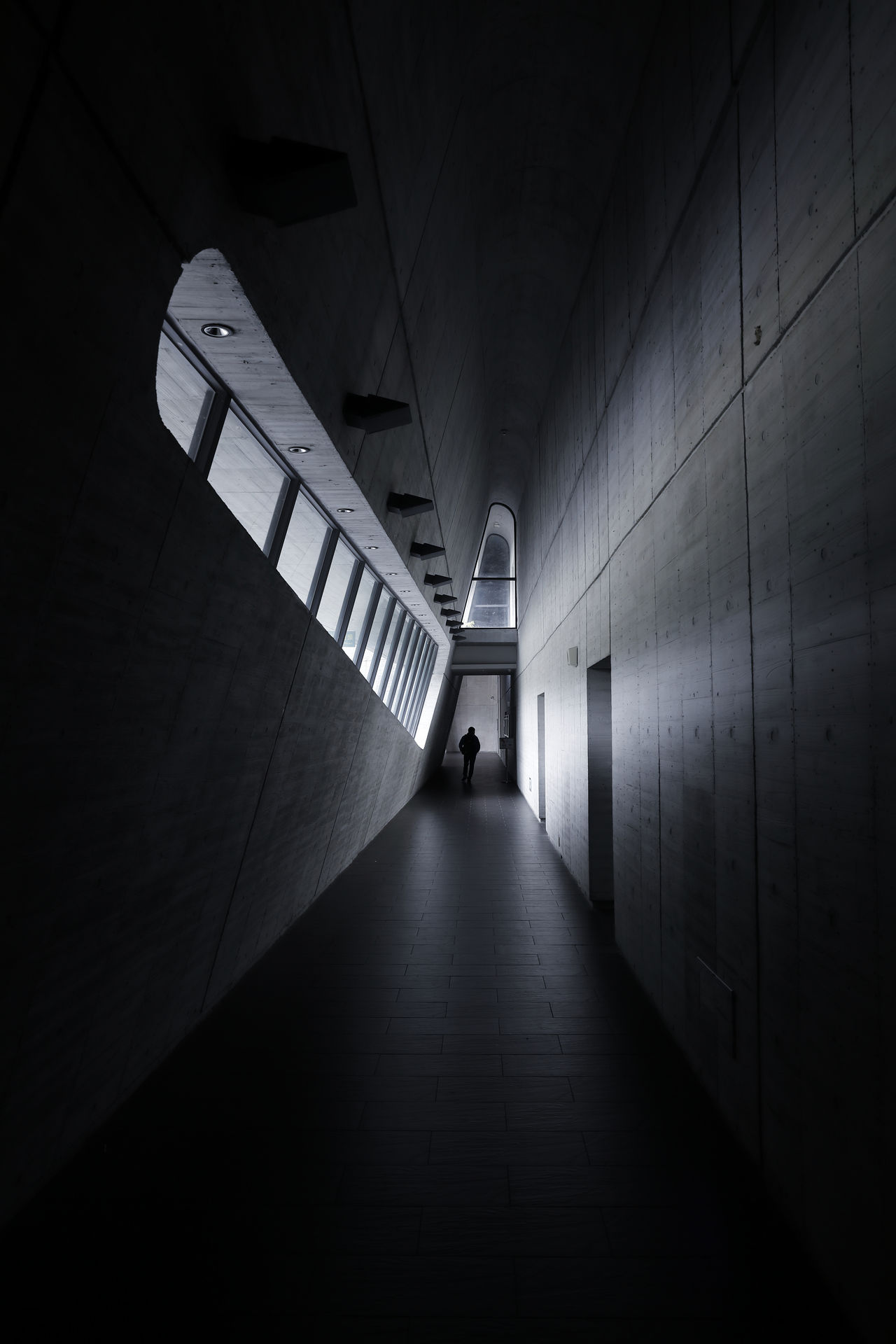 Architectural Feature Architecture Architecture_collection Building Built Structure Illuminated Indoors  Inside Light Light And Darkness  Light And Shadow Light In The Darkness Lines Lines And Shapes Lines, Shapes And Curves One Person People Taiwan The Way Forward Tunnel Vanishing Point Way Window Window Frame Window Light