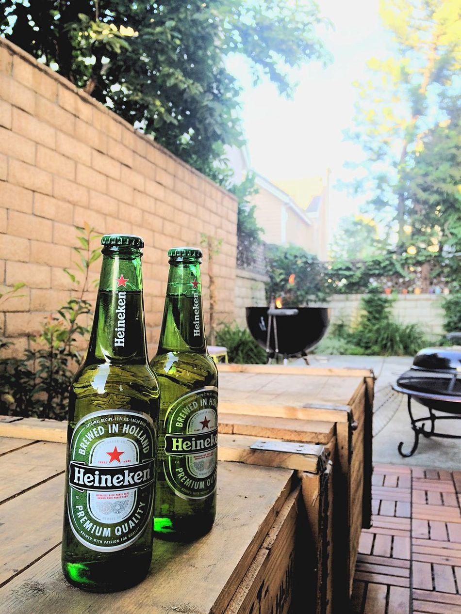 アメリカ 友達の家 BBQ バーベキュー ビール ハイネケン Heineken アルカディア カリフォルニア