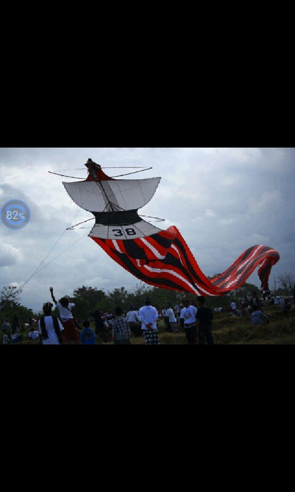 Bali festival kite Hello World