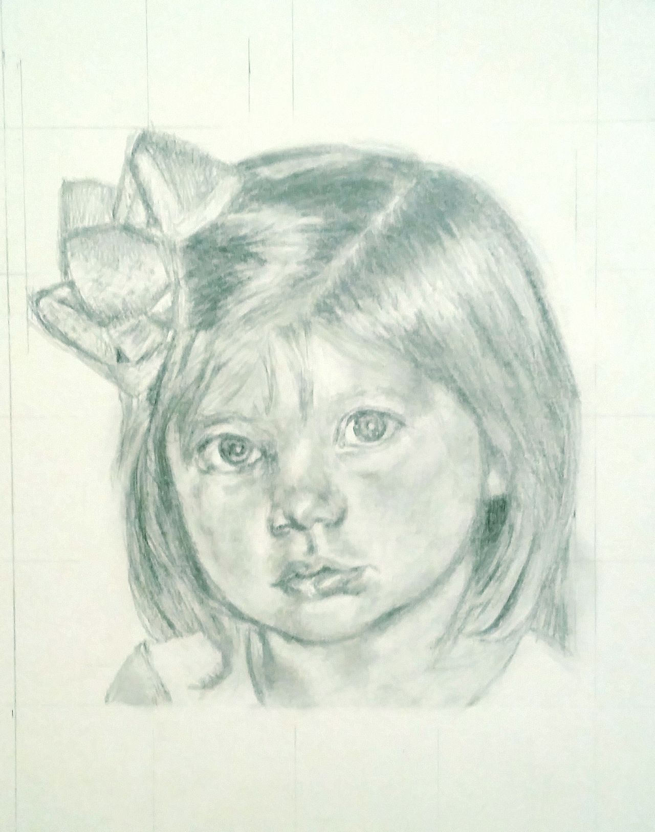 Ancphotography & Art Check This Out Charcoal Drawing Graphite Babygirl Portrait Gracelyn My Beautiful niece! Babylove Baby My work