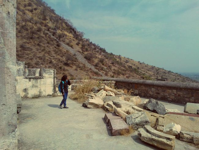Ruins Bhangarh Fort Haunted Palace Alwar Rajasthan India Solitary Traveler