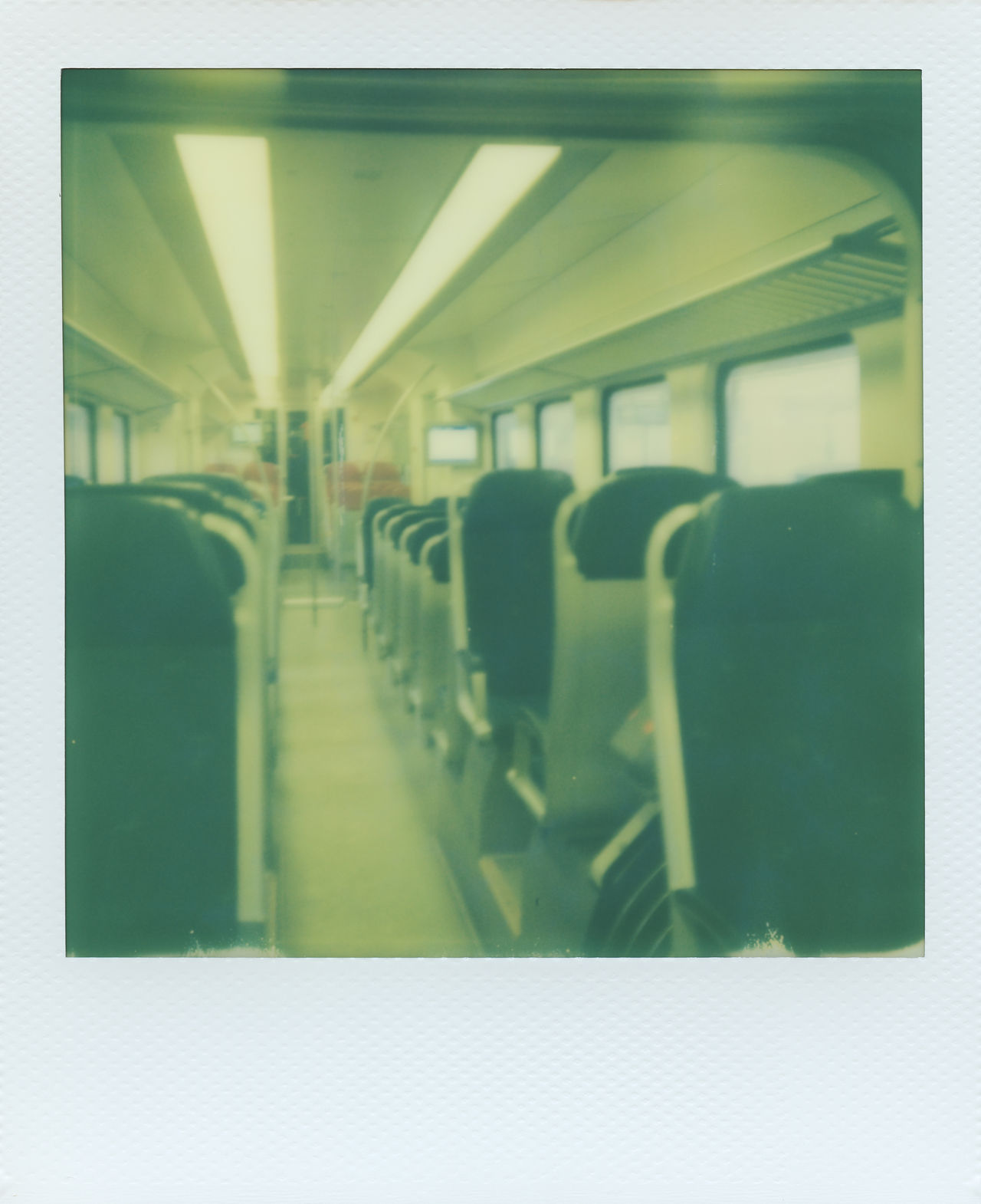 Empty Train Aisle Chair Empty Impossible I-1 Impossible Project Instant Lights No People Ns Path Polaroid Public Public Transport Public Transportation Seats Sprinter Train Train Compartment Urban Windows