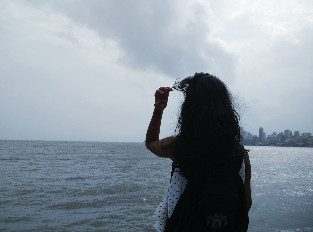 Where the Sky Touches the Sea. Sky Sea Sea And Sky Photoshoot MarineLine Mumbai Chek This Out  Traveling Happylife NoEdits
