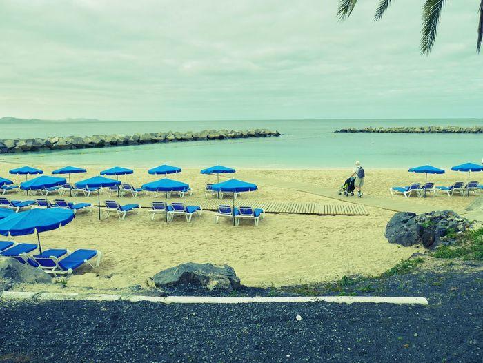 Semester Lanzarote Blue Village Havet Turist
