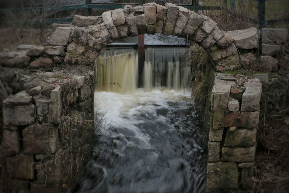 Wood River Waterfall Stone Arch Taking Photos Reflections Rocks Outdoors Long Exposure Slow Shutter Speed Nature
