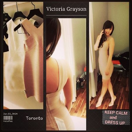addicted to revenge recently~ imaging being her while trying her dress in the drama~ just like imaging being an adult by wearing mom's shoes when i was little~ Revenge BCBG Victoria Grayson