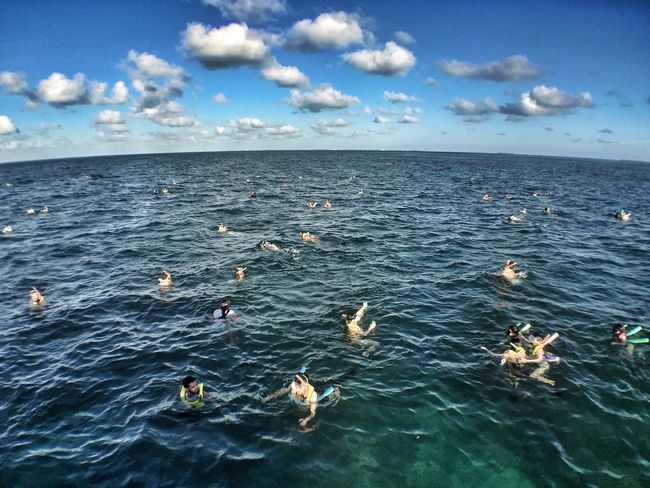 Snorkeling Sea Key West The Tourist Blue Wave People Of The Oceans