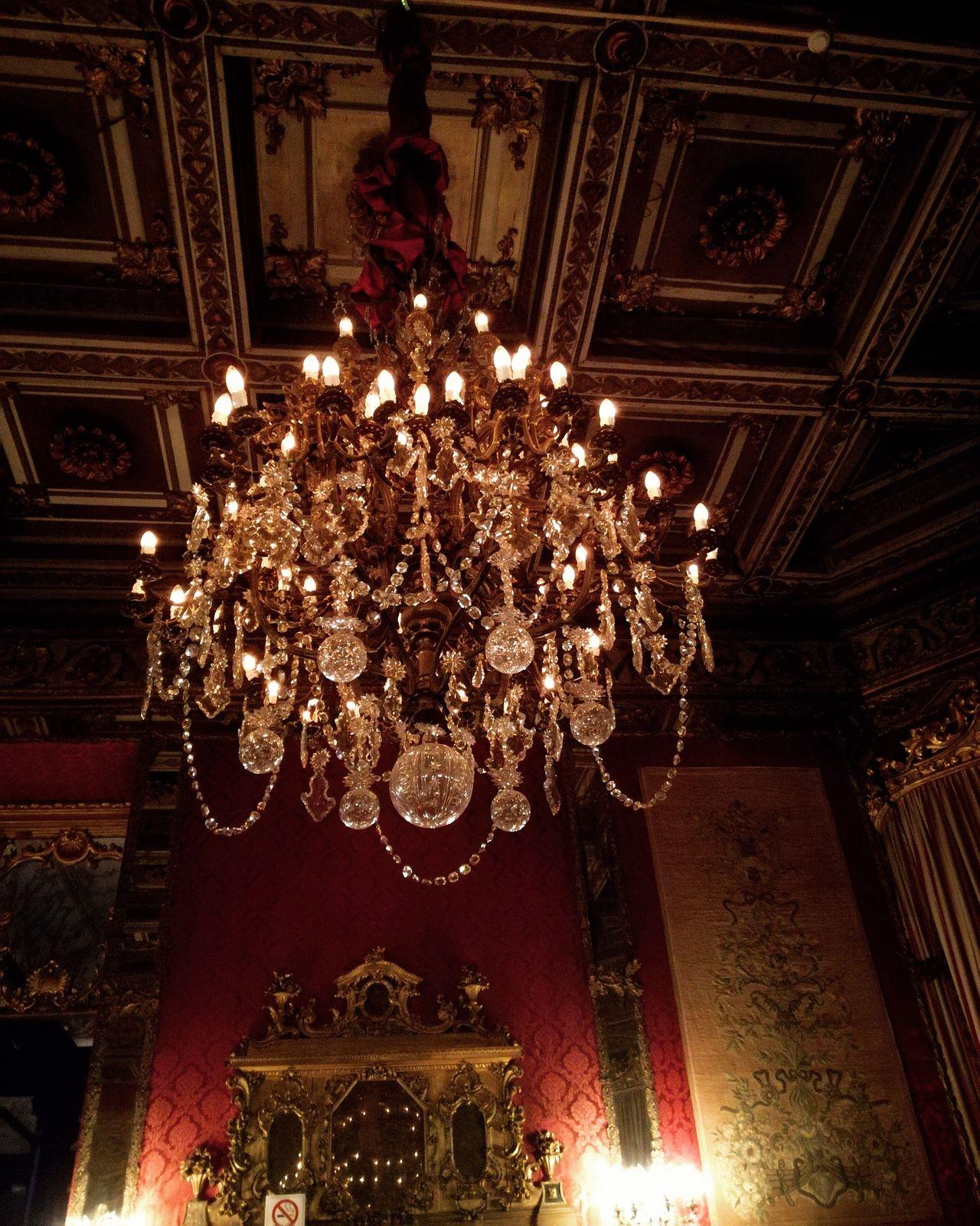 Decoration Lighting Equipment Chandelier Illuminated Luxury Indoors  Architecture Night