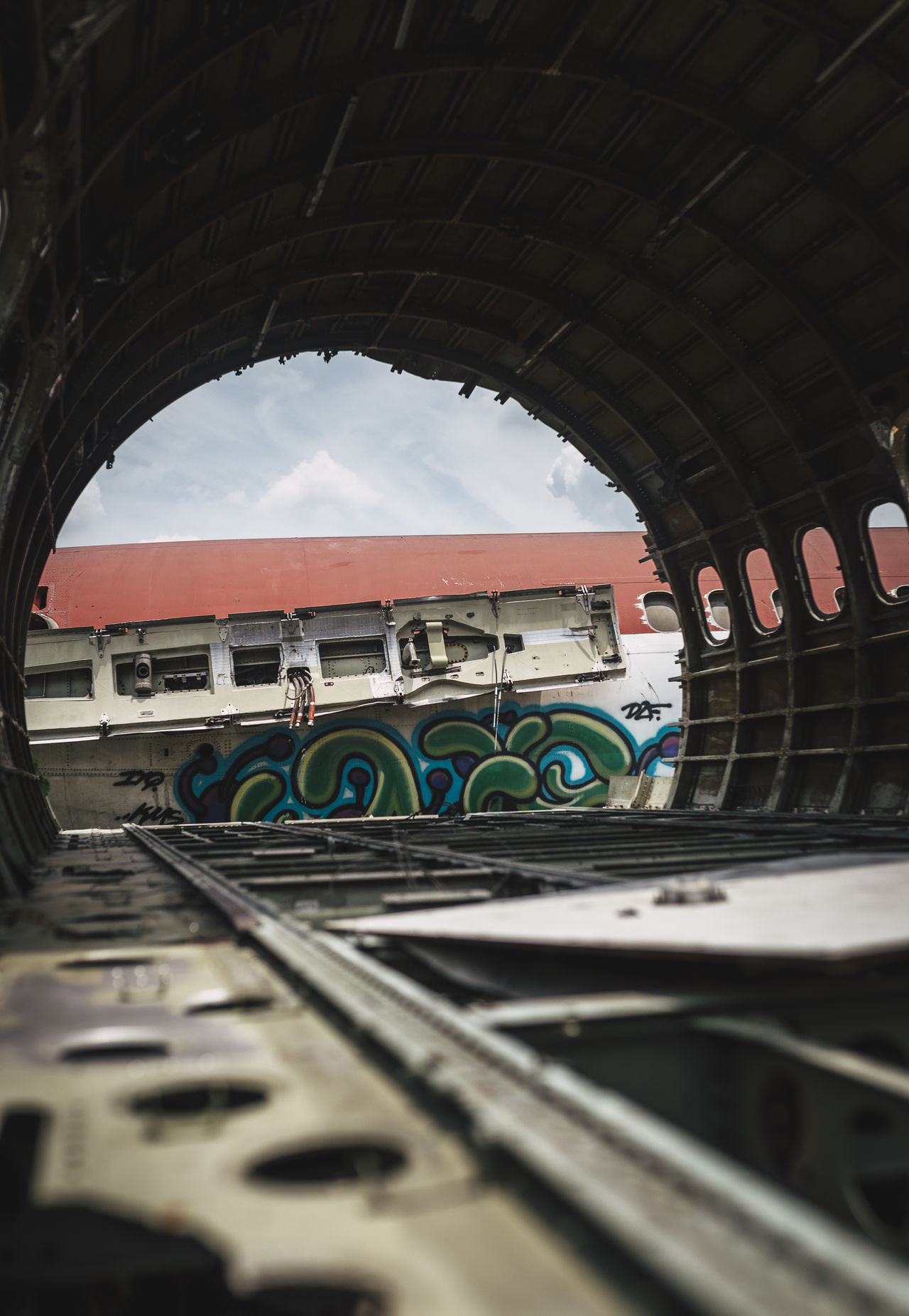 Abandoned Abandoned & Derelict Abandoned Places Airplane Arch Graffiti No People Streetart Travel Photography Urban Exploration Urbex Wreckage