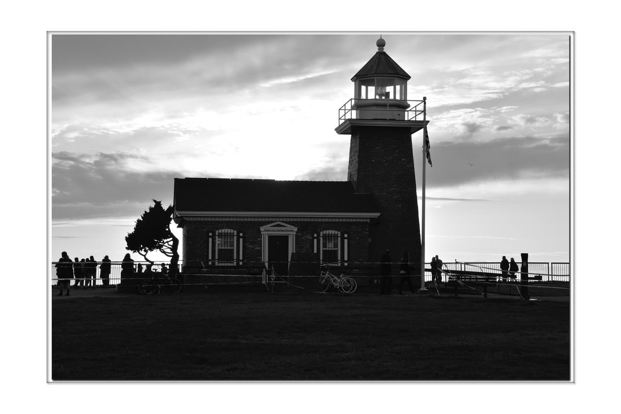 Lighthouse @ Sunset 5 Santa Cruz, Ca. Its Beach Mark Abbott Memorial Lighthouse Lighthouse Lighthouse Point Scenic Lookout Silhouettes Monochrome Photograhy Monochrome Sunset Black & White Black And White Photography Black And White Collection  Black And White Lighthouse_lovers Lighthouse _Collection Nature Beauty In Nature Santa Cruz Surfing Museum People Watching The Sunset Seaside Bnw_friday_eyeemchallenge