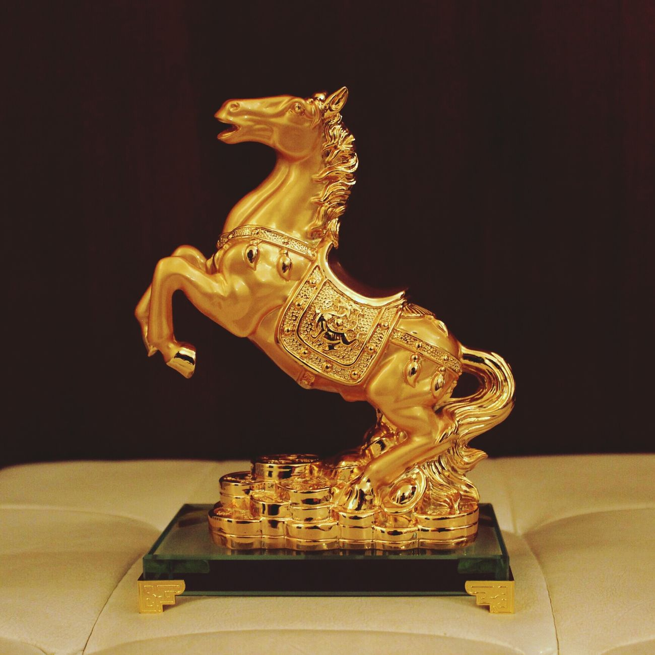 Gold horse!!))))I Like Horse <3 That's Me And My Life