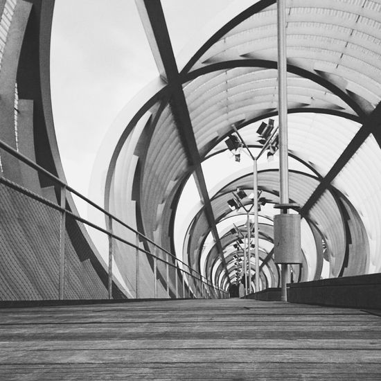 Architecture Abstract Bridge Geometric Urban B&w Vanishing Point