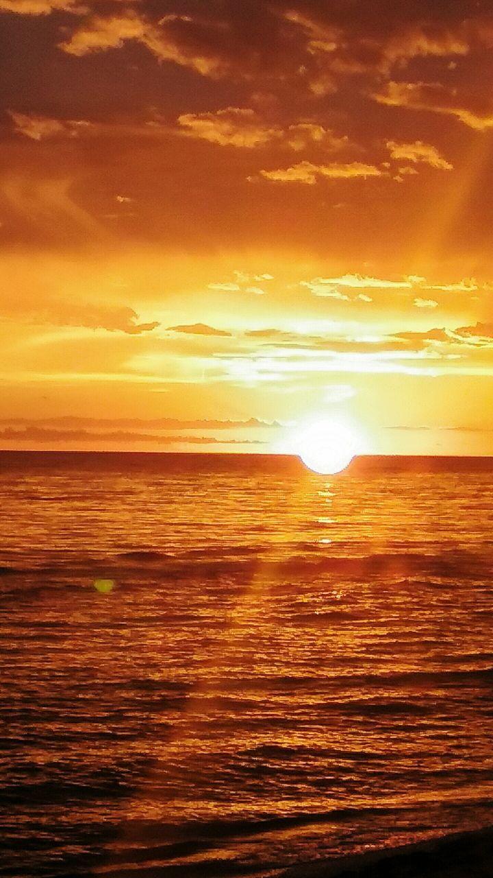 sunset, sun, sea, nature, beauty in nature, scenics, sky, tranquility, sunlight, water, tranquil scene, no people, beach, horizon over water, yellow, outdoors, golden, horizon