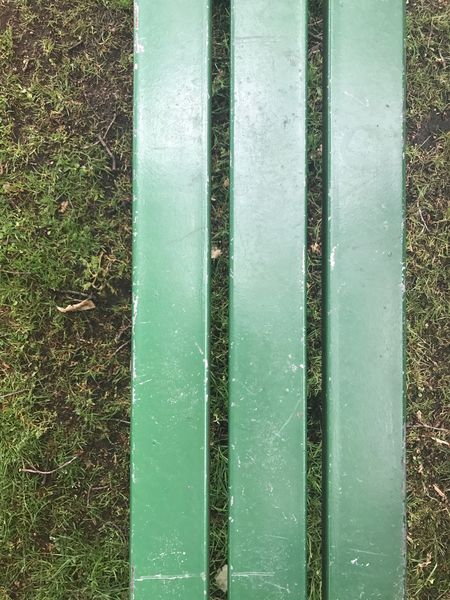 No People Day Outdoors High Angle View Green Color Nature Water Close-up Grass Bench Slats
