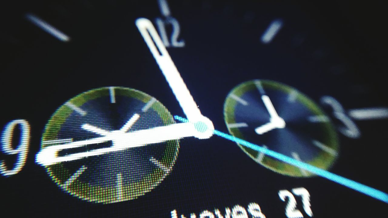 Pixels Macro Smartwatch Close-up At The Night Hours