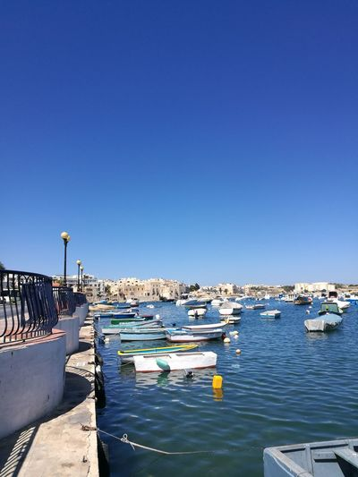 Clear Sky Sunny Outdoors Sea Day Blue Water Vacations Boats⛵️ Boats And Water Boats And Sea Malta Travel Destinations Travel