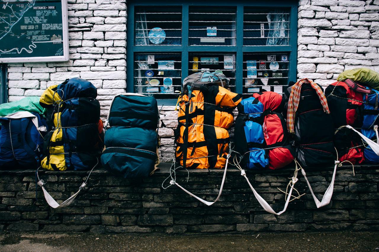 A 10-Day Trekking Adventure into Nepal's Annapurna Range Adventure Annapurna Backpack Baggage Bags Building Exterior Built Structure Hike Hiking Hikingadventures Himalayan Himalayas Journey Luggage Mountain Mountain Range Mountaineering Mountains Mountainscape Nepal Nepal Travel Outdoors Resting Travel Trekking
