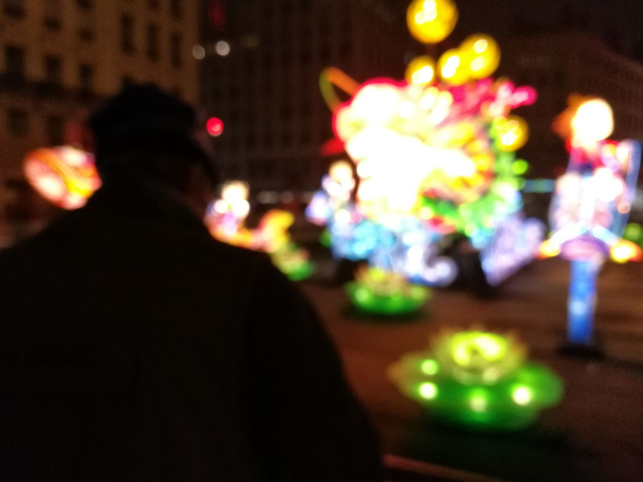 Fête des Lumières 🌌 Lost in lights Night Illuminated Rear View Nightlife Leisure Activity Real People People One Person Neon Lights Mycity Famous Tourist Attractions Lyon Fete Des Lumieres Architecture Amazing Party Party Time Event Chinese Celebration Technology Outdoors Large Group Of People