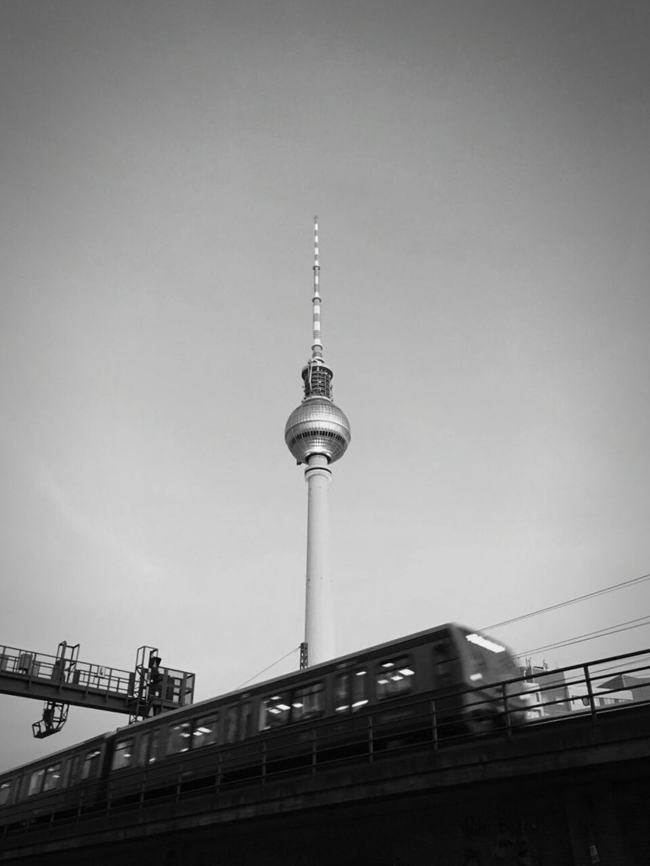 Travel Destinations Communication Architecture Tall - High Tower Built Structure Sky Television Industry Outdoors Building Exterior Day Global Communications City Berlin Alexanderplatz TV Tower S Bahn City Life The Street Photographer - 2017 EyeEm Awards The Architect - 2017 EyeEm Awards