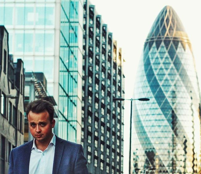Debonair London Gherkin Tower Portrait Taking Photos Streetphotography EyeEm Best Shots From My Point Of View EyeEm Best Edits Corporate