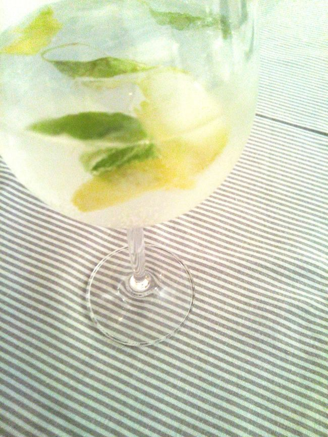Gintonic Gin Tonic GIN Tonic Tonicwater Gin And Tonic Tonic Water Gin & Tonic Tonica Basil Drink Drinks Drinking Lemon Glass Ice