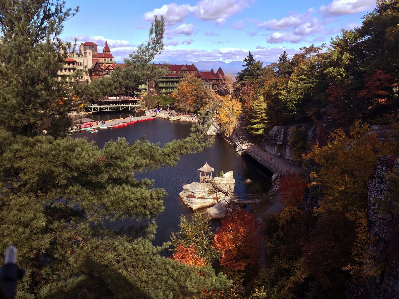 Architecture Autumn Beauty In Nature Built Structure Day Fall Foliage Lake LAKE MOHONK Mohonk Preserve Nature No People Outdoors Sky Summer House Tree Water