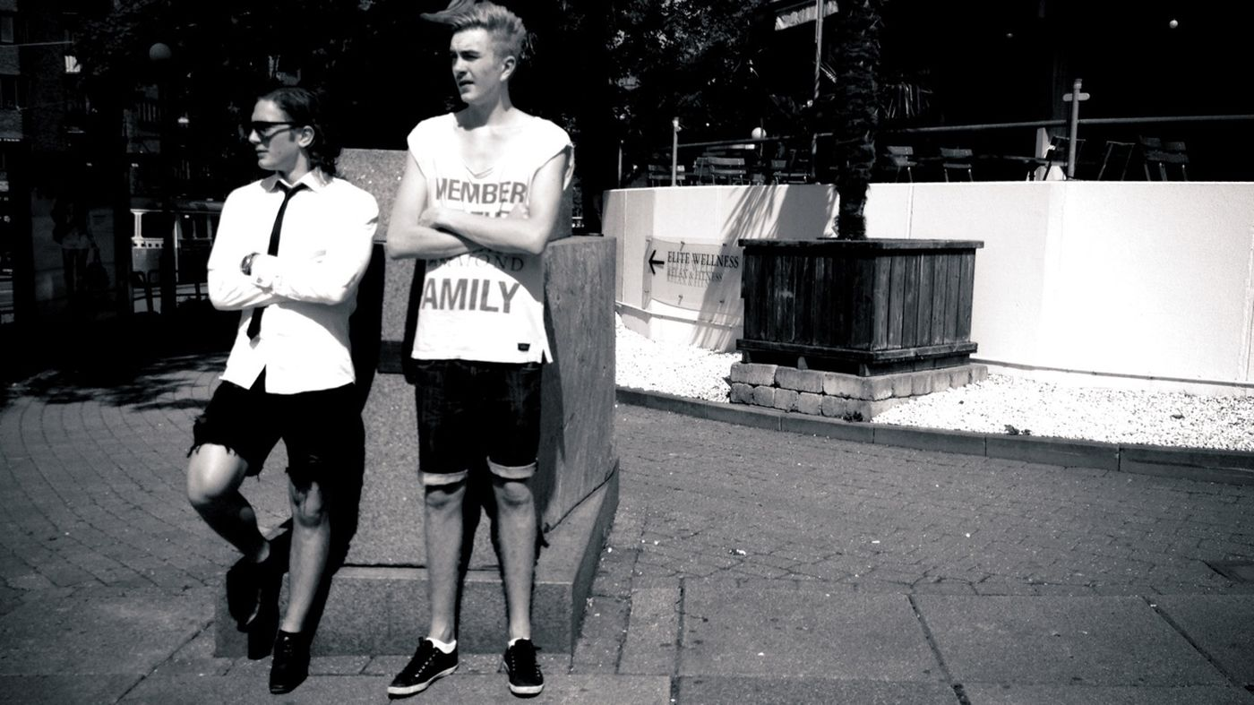 """""""We're just checkin' out the ladies Bro!"""" Streetphotography Streetphoto_bw AMPt_community Summer Guys"""