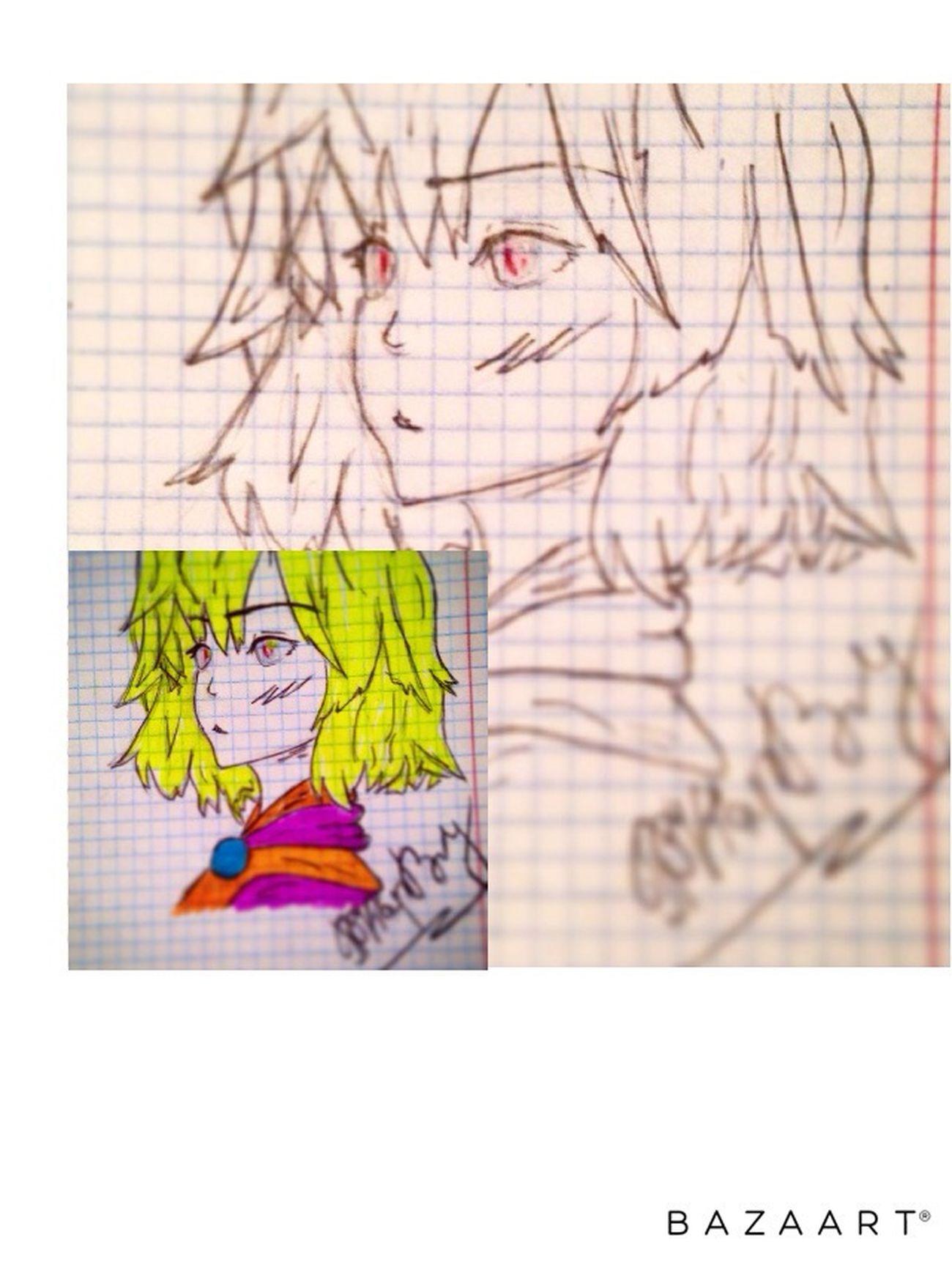 аниме рисунок карандашом