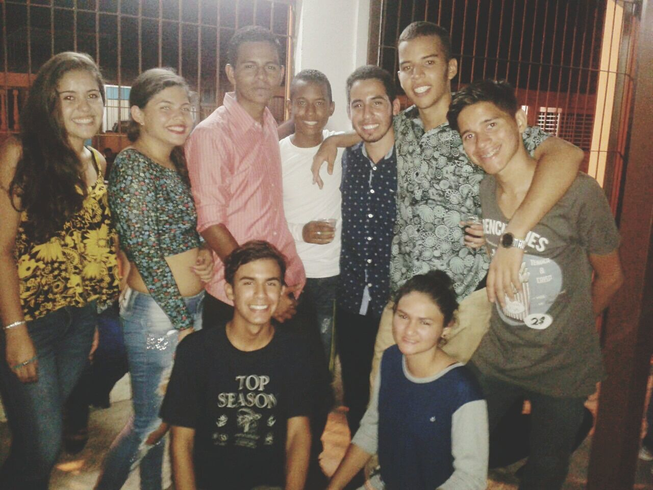 young men, portrait, togetherness, standing, young adult, medium group of people, looking at camera, smiling, leisure activity, front view, young women, casual clothing, friendship, selfie, men, indoors, day, adult, people, adults only